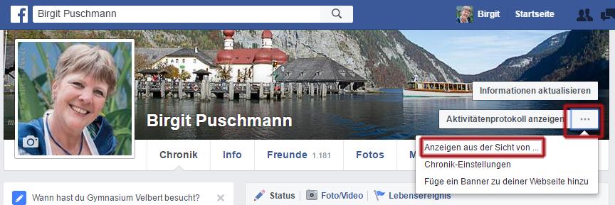 facebook - aus der Sicht von