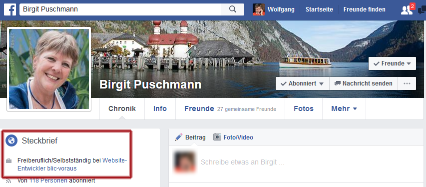 facebook - Steckbrief